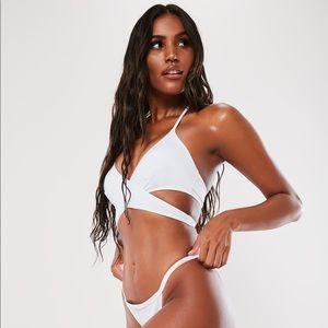 White VS Wrap Bikini Top